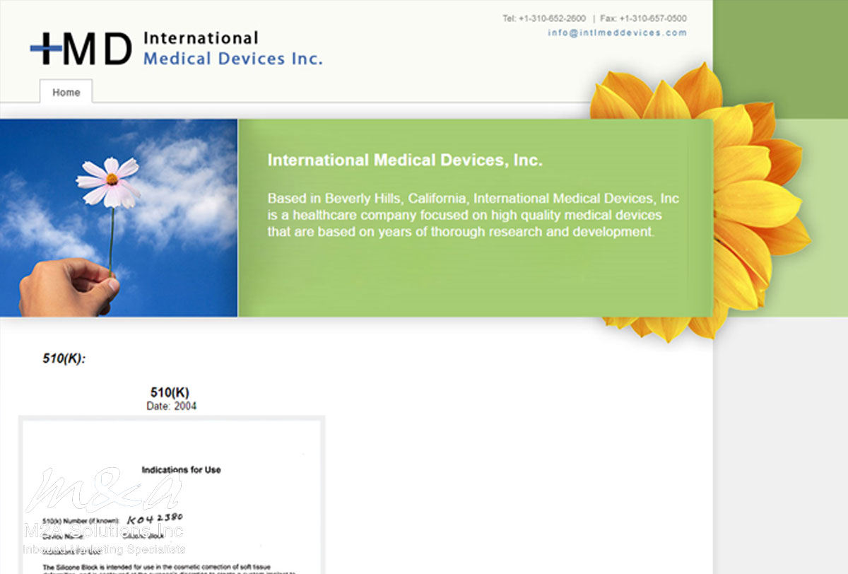 Project: International Medical Devices