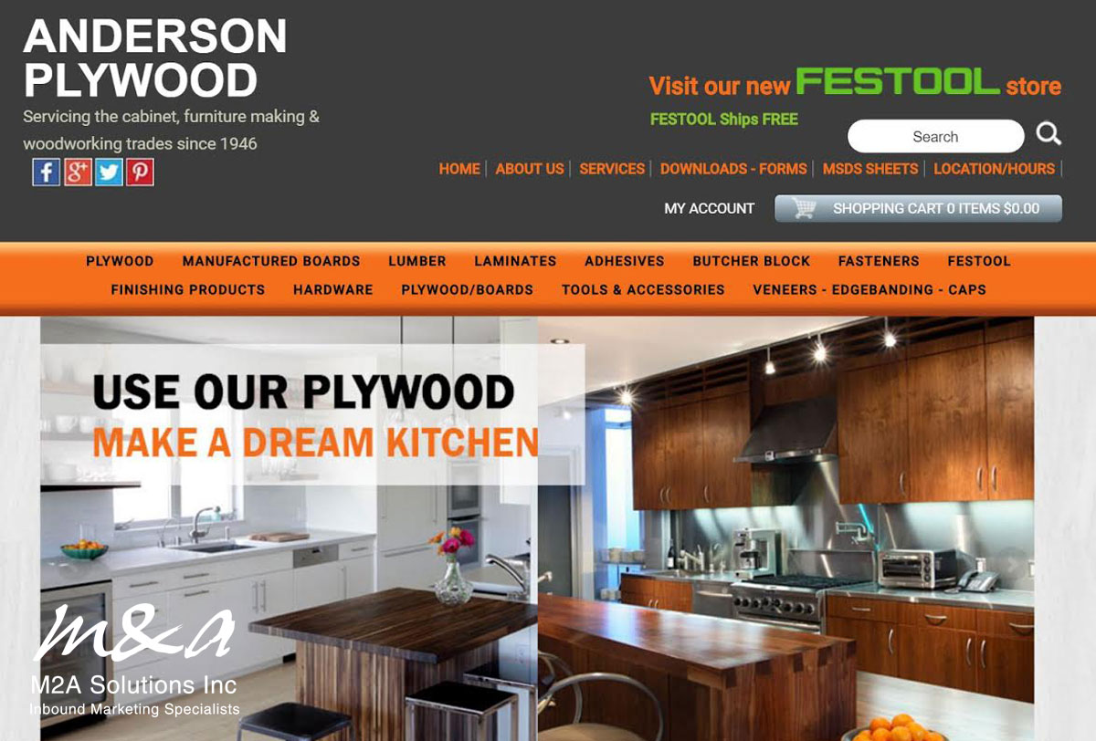 Project: Anderson Plywood Sales