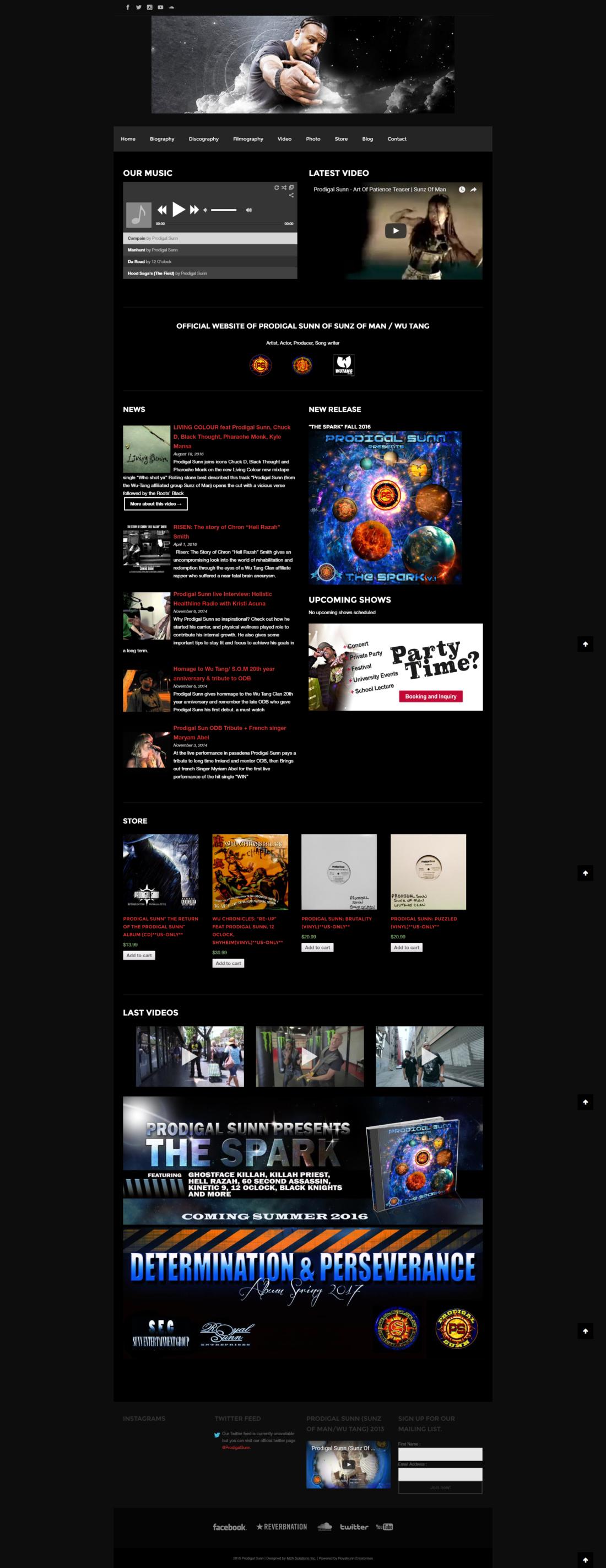 Celebrity-Webdesign